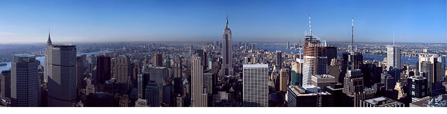 New York Skyline Panorama 19000 px wide