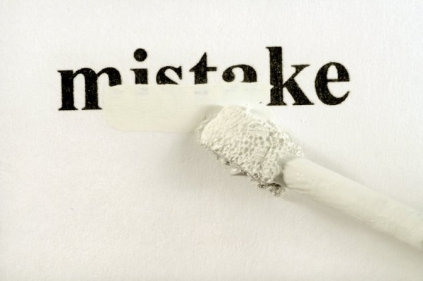 mistake - white out
