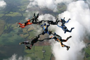 Entrepreneur Sky Diving