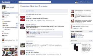 New Facebook Newsfeed