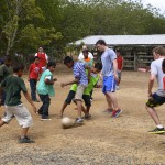 Playing Soccer with Nicaraguan children