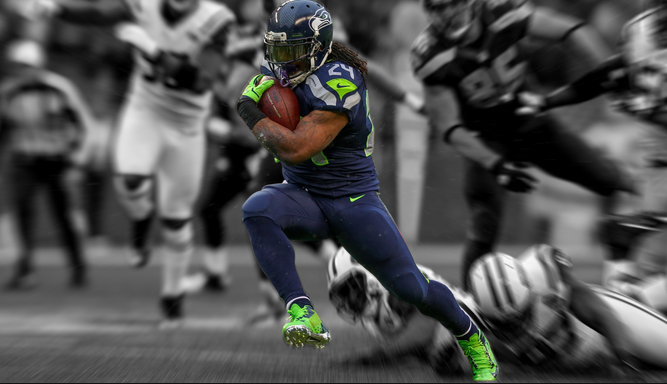 Marshawn Lynch workout