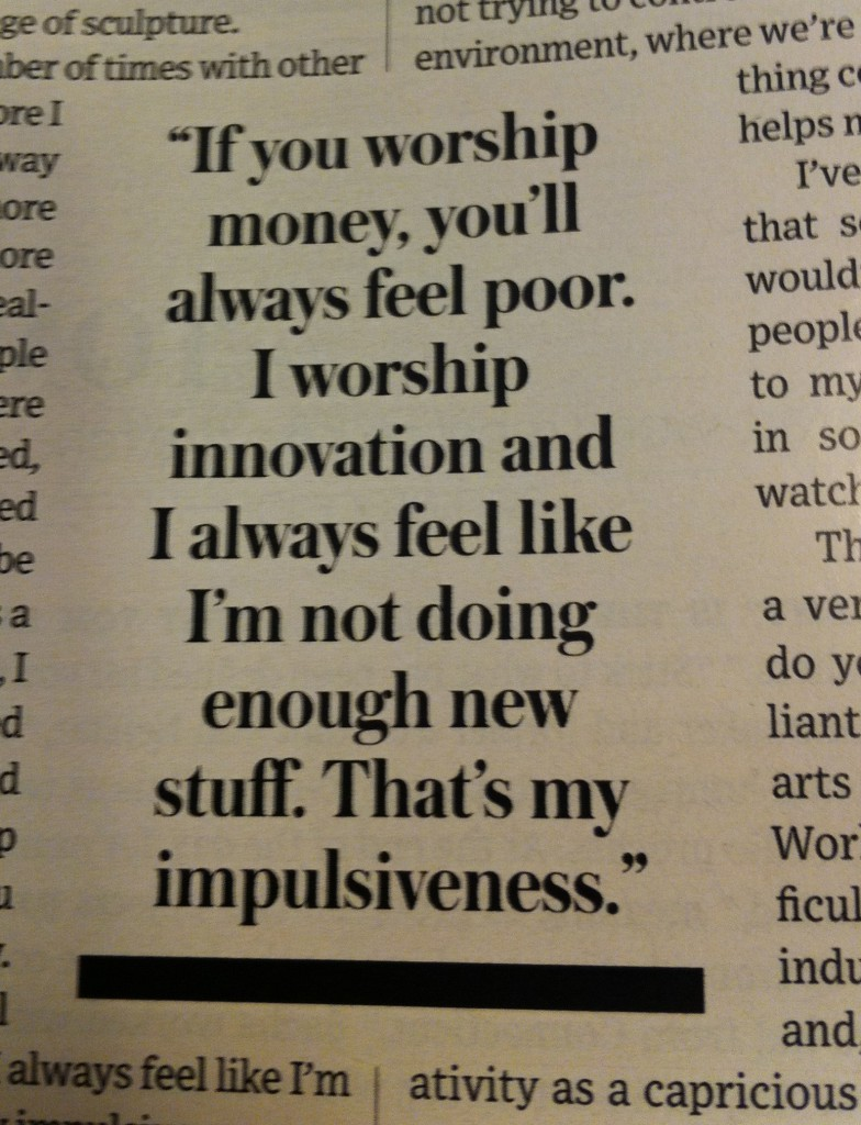 Innovation-Quote-Tom-Sachs-WSJ