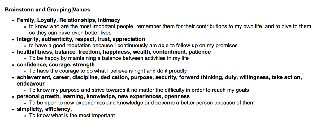 Core Values 1