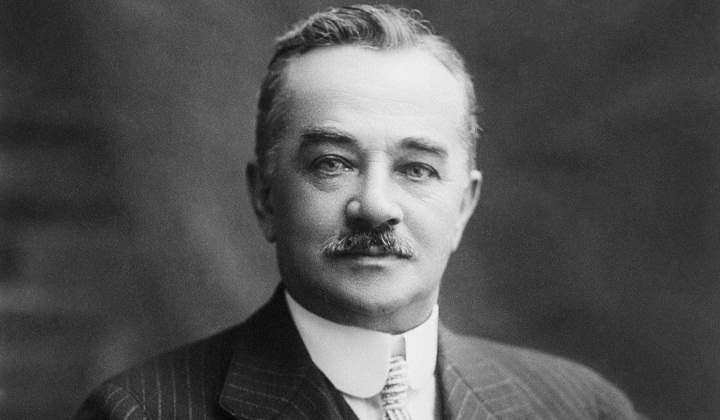 Portrait of Milton S. Hershey the Chocolate King