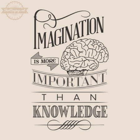 Typography-Shirt-Sayings.Imagination-Is-More-Important-than-knowledge-CloseUp-450x450