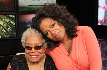 maya angelou and oprah