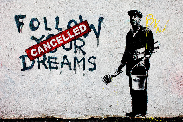 banksy follow your dreams 640