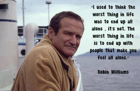 robin williams alone