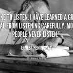 Why Listening Leads to Learning