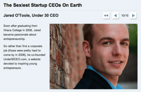 jared o'toole sexiest startup ceo under30ceo